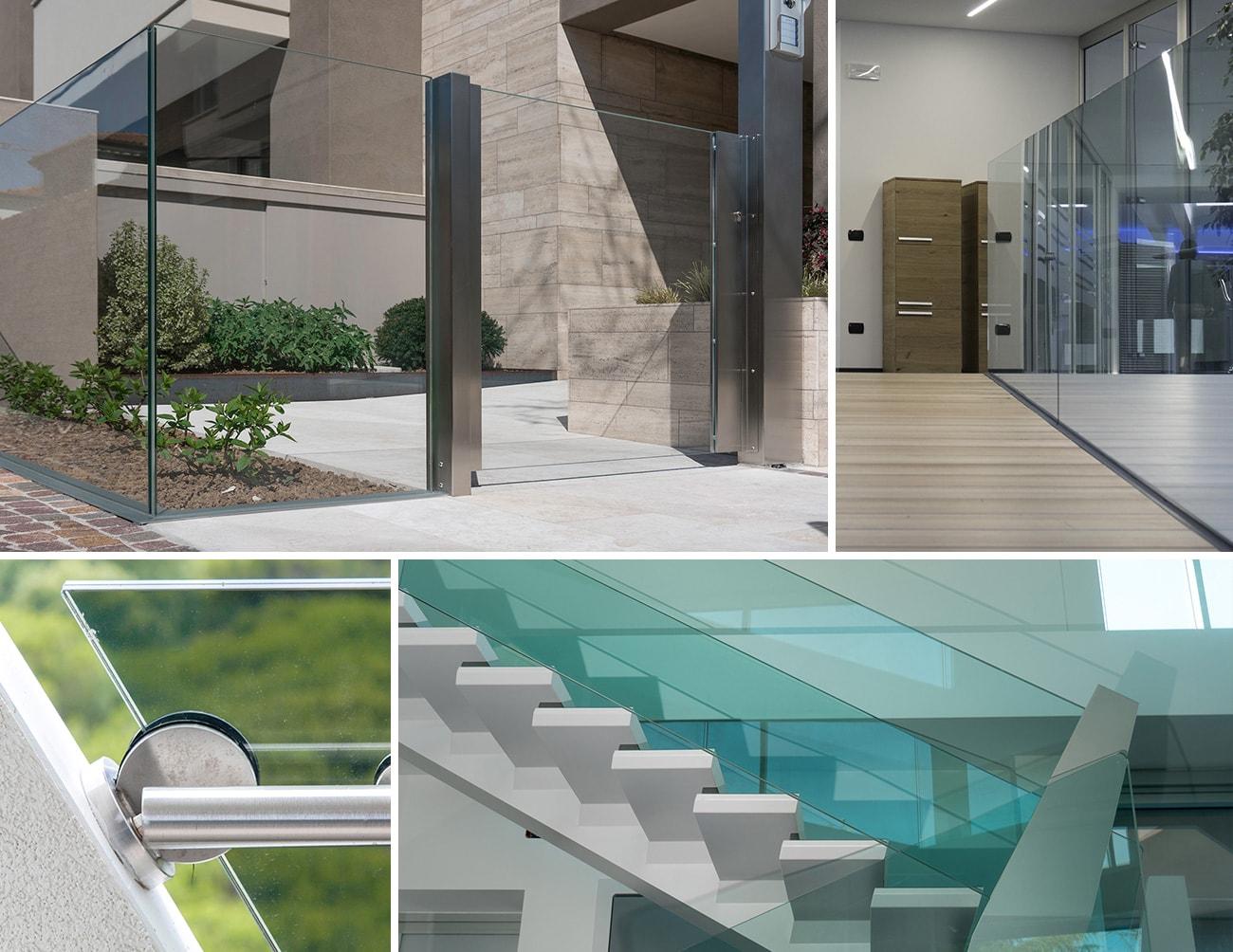 Parapetti In Vetro Per Interni poza - strutture vetro e metallo